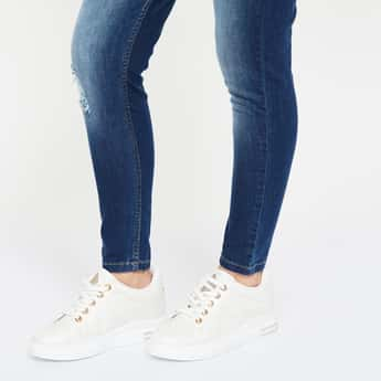 GINGER Low-Top Lace-Up Shoes with Light Perforations