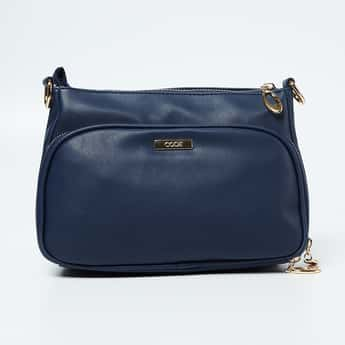 CODE Solid Shoulder Bag with Detachable Shoulder Strap