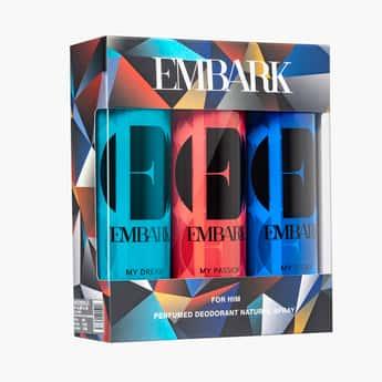EMBARK Perfumed Deodorant for Him - Pack of 3