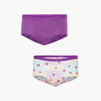 JOCKEY Girls Printed Hipster Panties - Pack of 2