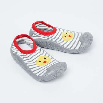 FAME FOREVER Striped Sock Knit Shoes