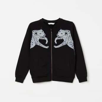 BOSSINI Printed Zip-Closure Sweatshirt