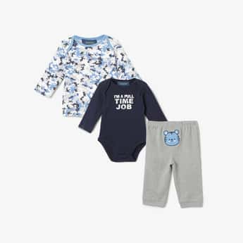 JUNIORS BASICS Printed Bodysuit with T-shirt and Pyjamas