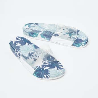 GINGER Tropical Print Sliders
