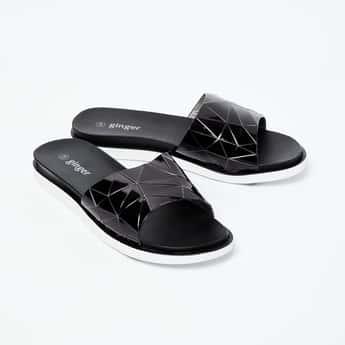GINGER Geometric Pattern Slip-On Sandals