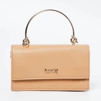 TONIQ Solid Sling Bag with Chain Strap