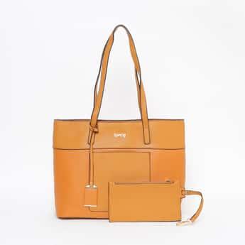 TONIQ Colourblock Tote Bag with Pouch
