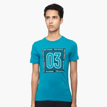 ADIDAS Typographic Print Short Sleeves T-shirt