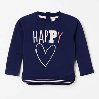 FS MINI KLUB Full Sleeves Typographic Print Sweatshirt