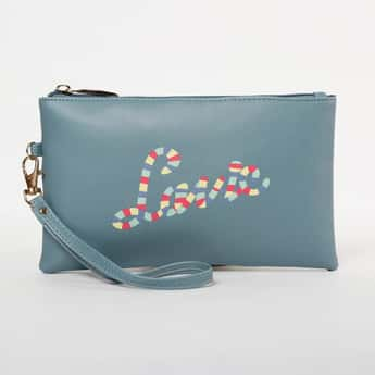 LAVIE Printed Zip-Closure Cosmetic Pouch