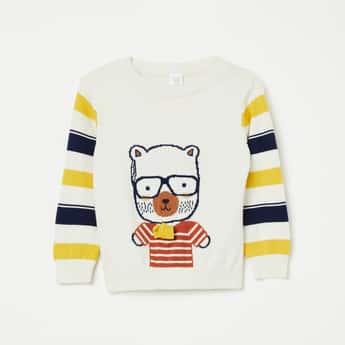 FS MINI KLUB Printed Full Sleeves Sweater