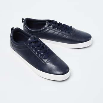 FORCA Perforated Detail Casual Lace-Up Shoes