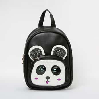 GINGER Panda Print Backpack with Applique