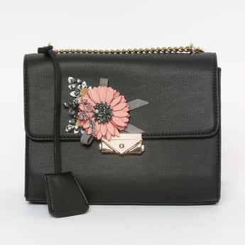 CODE Embroidered Sling Bag