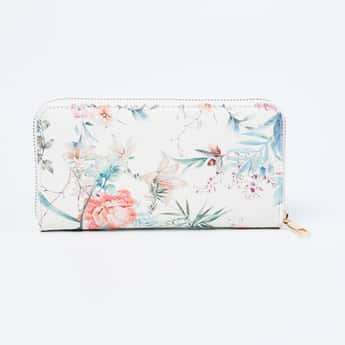 GINGER Floral Print Zip-Closure Wallet