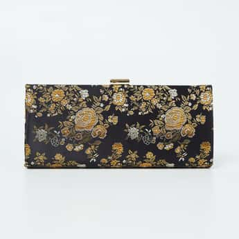 CODE Floral Print Clutch with Chain Strap