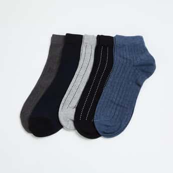 CODE Men Striped Socks- Pack of 5