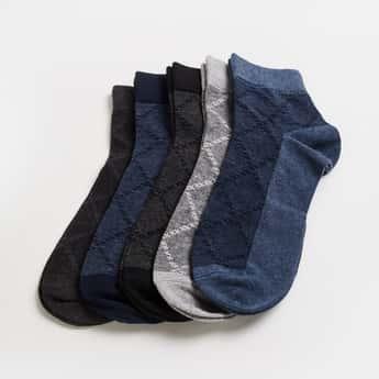 CODE Men Jacquard Patterned Socks- Pack of 5