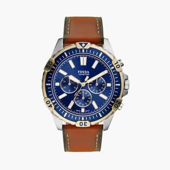 FOSSIL Garrett Chronograph Luggage Leather Mens's Watch - FS5625