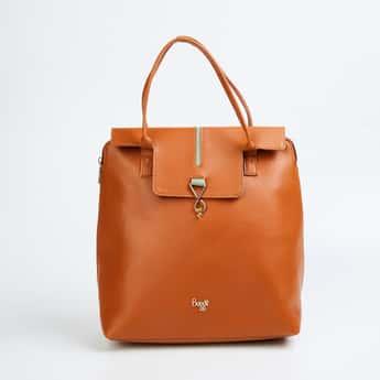 BAGGIT Women Solid Flap-Closure Backpack
