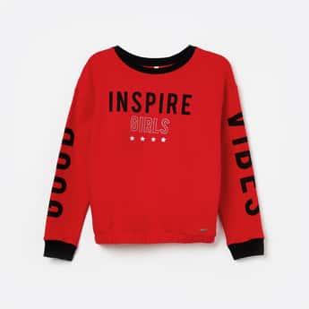 LEE COOPER JUNIORS Printed Full Sleeves Sweatshirt
