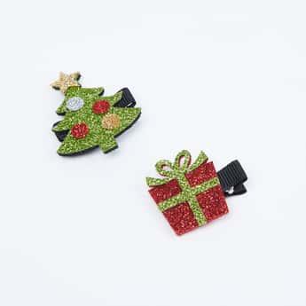 TONIQ KIDS Girls Christmas Accent Alligator Clips- Pack of 2