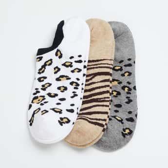 FAME FOREVER Girls Patterned Ankle-Length Socks - Pack of 3 Pairs