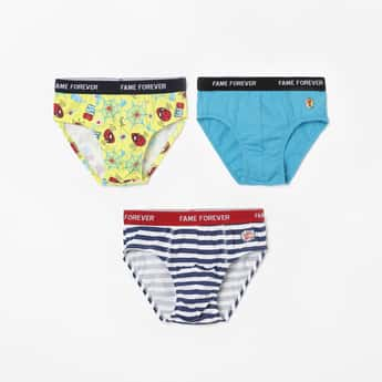 FAME FOREVER Printed Hipster Briefs - Pack of 3 Pcs.