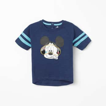JUNIORS Mickey Mouse Print Short Sleeves T-shirt