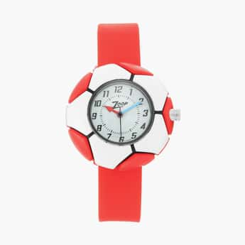 ZOOP Kids Water-Resistant Analog Watch with Football Pattern Dial - 26014PP02