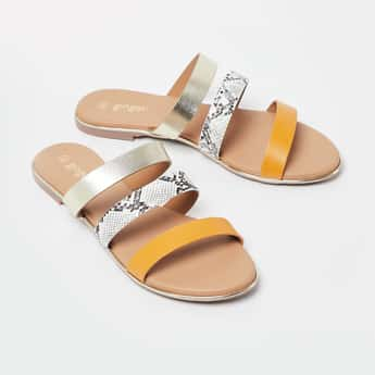 GINGER Shimmery Flat Sandals