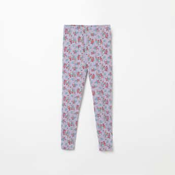 FAME FOREVER YOUNG Printed Knitted Leggings