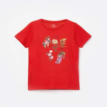 FAME FOREVER KIDS Printed Round Neck T-shirt