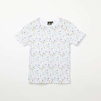 SMILEYWORLD Printed Crew Neck T-shirt