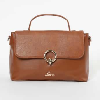 LAVIE Textured Satchel Bag with Detachable Strap