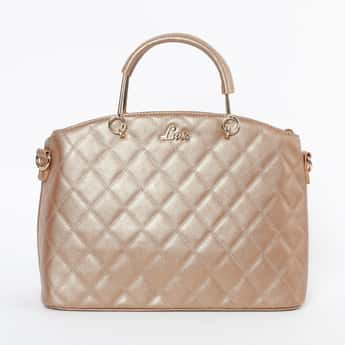 LAVIE Quilted Handbag with Rolled Handles