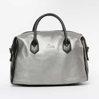 LAVIE Colourblocked Zip Closure Handheld Bag