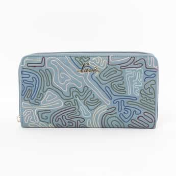 LAVIE Embroidered Zip-Around Wallet