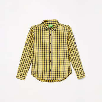 BOSSINI Boys Checked Full Sleeves Casual Shirt