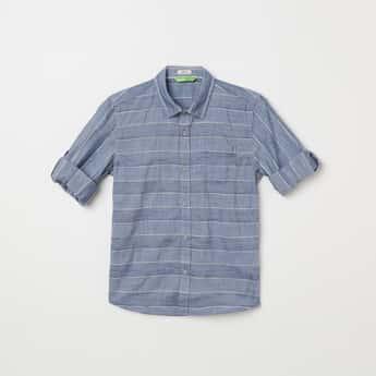 BOSSINI Striped Full Sleeves Casual Shirt