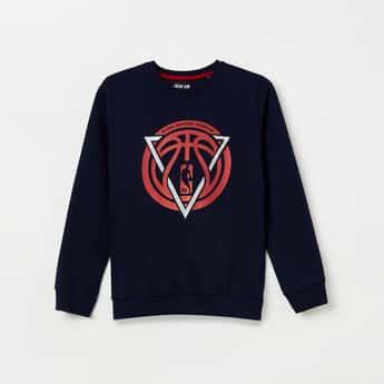 NBA Printed Full Sleeves Sweatshirt
