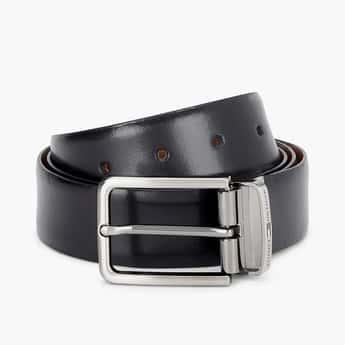 TOMMY HILFIGER Men Genuine Leather Solid Formal Belt