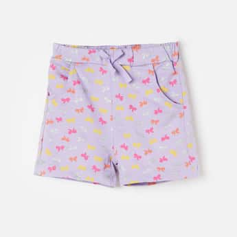 JUNIORS Printed Shorts with Scoop Pockets