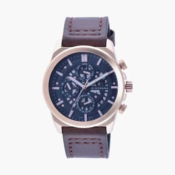 GIORDANO Men Analog Watch with Leather Strap - R1214-04