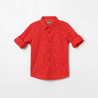 UNITED COLORS OF BENETTON Printed Full Sleeves Shirt