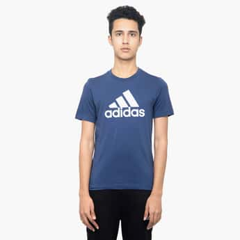 ADIDAS Short Sleeves Crew Neck T-shirt with Chest Print