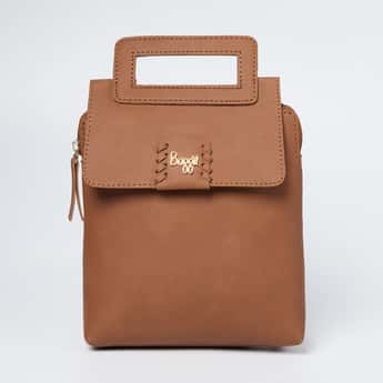 BAGGIT Solid Backpack with Magnetic Button Closure