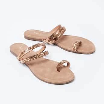 INC.5 Embellished One-Toed Flat Sandals