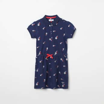 U.S. POLO ASSN. KIDS Printed T-shirt Dress