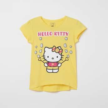 KIDSVILLE Hello Kitty Print Round-Neck T-shirt